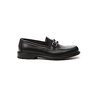 Salvatore Ferragamo 02c582737268 Heren's Black Leather Loafers