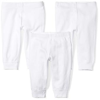 Moon and Back Baby Set of 3 Organic Cotton Pants, White Cloud,  Size Infant 0.0