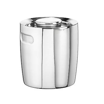 Polished Stainless Steel 1.5 Qt Doublewall Insulated Ice Bucket No Handle
