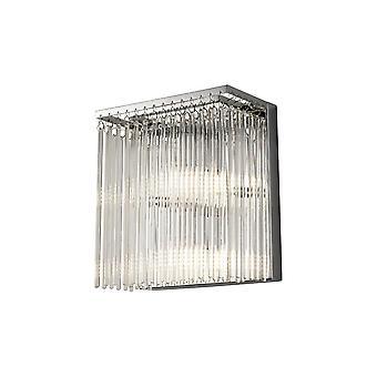 Lampa ścienna 3 Jasno polerowany chrom, szkło bezchmurne