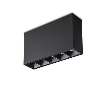 Ideal Lux LIKA - Integrierte LED 5 Lichter Oberfläche montiert Deckenleuchte Schwarz 3000K