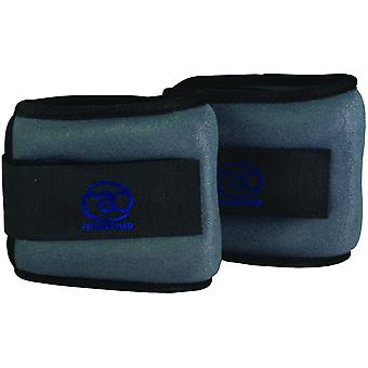 fitness mad wrist and ankle weights 2 x 0.5kg maximum comfort, easy fit for