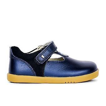Bobux i-walk & kid+ louise navy shimmer  t-bar shoes