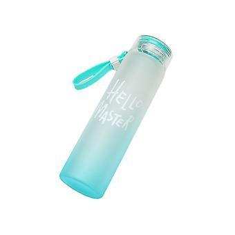 450ml Givré Gradient High borosilicate Verre Bouteille d'eau bleu