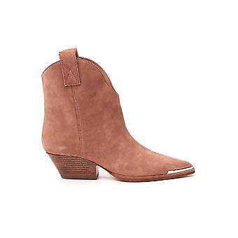 Sergio Rossi A91150mcrm132222 Femmes's Brown Suede Ankle Boots