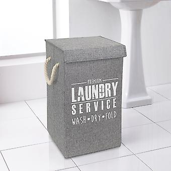 Country Club Deluxe Laundry Hamper, Grey