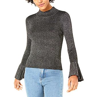 Lucy Paris | Mallory Mock-Neck Bell-Sleeve Sweater
