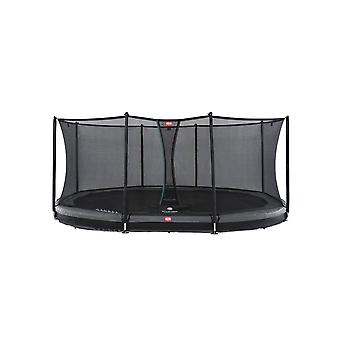 BERG Grand Favorit InGround 520 Trampoline + turva verkko Comfort harmaa