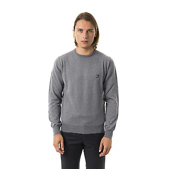 Uominitaliani Gri Crew Neck Grey Sweater