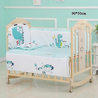 5pcs/set Infant Bedding Set- Cotton Newborn Baby Crib Bumpers Safety Bed Fence Protector Baby Room Decor Bedding Bumpers