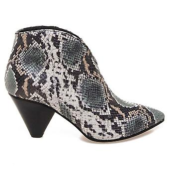Janet & Janet Nymphaea Printed Python Ankle Boot