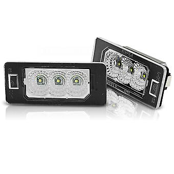Rekisterikilven valaistus LED BMW E90 / F30 / F32 / E39 / E60 / F10 / X3 / X5 / X6 LED CREE CLEAR