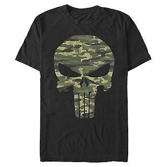 Punisher Camo Skull T-paita