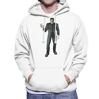 Frankenstein Monster Pose Männer's Kapuzen Sweatshirt