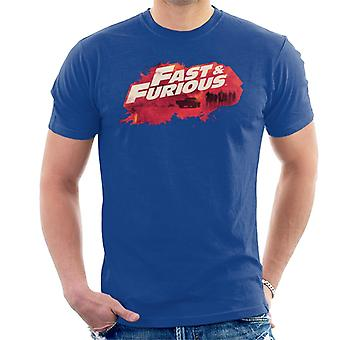 Fast and Furious Logo Character Backdrop Men's T-Shirt