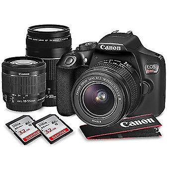 Canon eos rebel t6 dslr camera with ef-s 18-55mm f/3.5-5.6 is ii lens, ef 75-300mm f/4-5.6 iii lens, 64gb