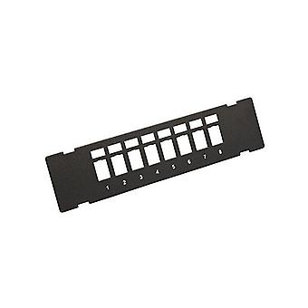8 Port losset veggfeste patch panel