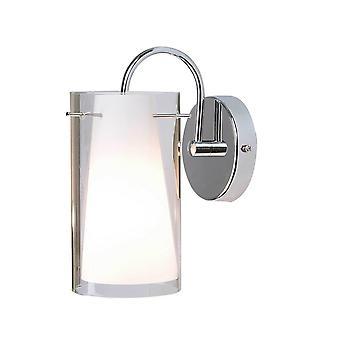 Moderne wandlamp Chrome 1 Licht met glazen tint, E27