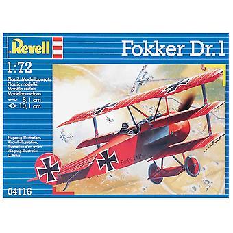Revell 04116 1:72 Fokker Dr. 1 Triplane Plastic Model Kit