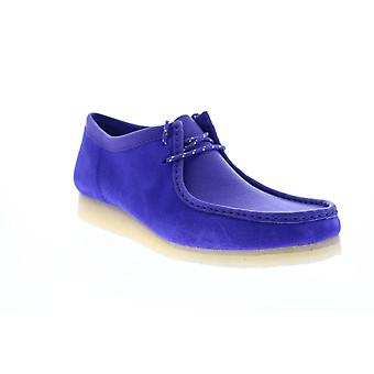Clarks Wallabee Mens Purple Suede Lace Up Chukkas Laarzen