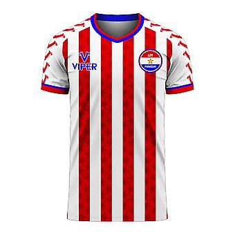 Paraguay 2020-2021 Home Concept Football Kit (Viper)