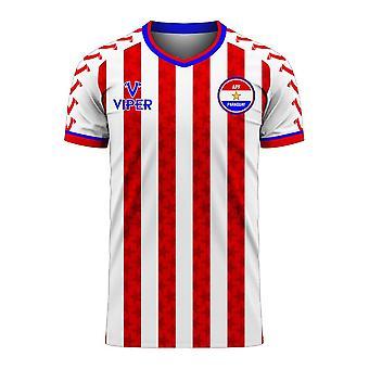 Paraguay 2020-2021 Home Concept Football Kit (Viper) - Kids