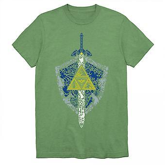 Nintendo Zelda Link's Shield and Sword Crest Symbol T-paita