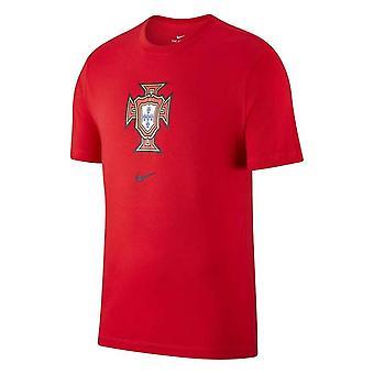 2020-2021 Portugal Nike Evergreen Crest Tee (Rouge)