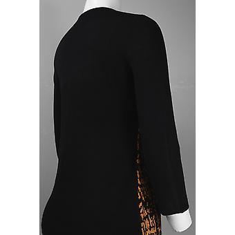 Front Pattern Viscose Knit Dress