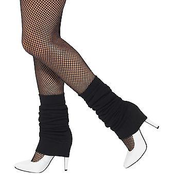 Smiffys unisex 1980's legwarmers (black)