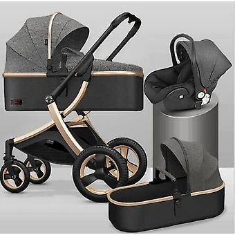 Baby Stroller, Portable Luxury Travel, Bebe Pram, High Landscape Fold