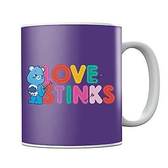 Hoitokarhut avaavat Magic Valentines Grumpy Bear Love Stinks -mukin