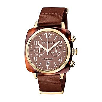 Briston 20140.PYA.T.37.NTCH Clubmaster Classic Terracotta Acetate Wristwatch Brown