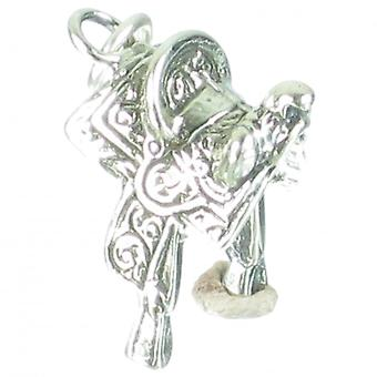 Saddle Sterling Silver Charm .925 X 1 Horse Horses Saddles Charms - 2698