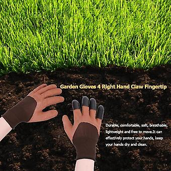 Practical 4 Abs Plastic Garden Rubber Gloves With Claws Digging Protective Tool