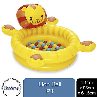 Bestway Up, In & Over Lion Ball Pit, Gonfiabile Kids Play Centre 111x98x61.5cm