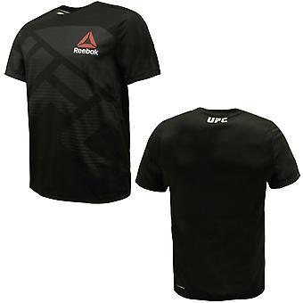リーボック メンズ UFC FKブランクジャージージムトレーニングTシャツブラック AZ9022 A16E