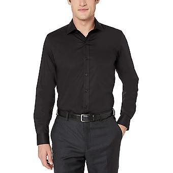 Merk - Buttoned Down Men's Xtra-Slim Fit Stretch Poplin Dress Shirt, Supima Katoen Non-Iron, Spread-Collar