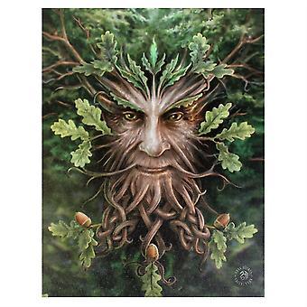 19x25cm Oak King Canvas Plaque by Anne Stokes