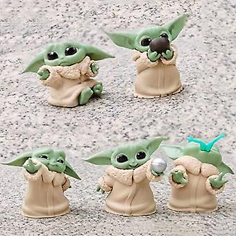 5pcs Baby Yoda Grogu Action Figure