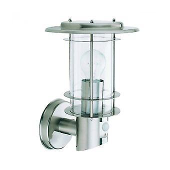 Lámpara De Pared Outdoor Lights Con Detector, En Acero Onoxideerbaar Y Policarbonato
