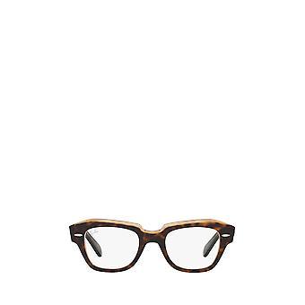 Ray-Ban RX5486 havana su occhiali unisex marroni trasparenti
