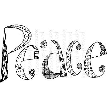 Lindsay Mason Designs Zendoodle Peace Ready To Go A6 Clear Stamp