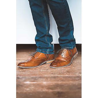 Itinerancias Tan Cuero Gibson Brogue Zapato