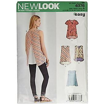 New Look Sewing Pattern 6376 Misses Tops Size A 6-18