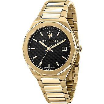 Maserati R8853142004 Men's Stile Gold Tone Bracelet Wristwatch