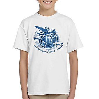 Pan Am Flying Around The World Kid's T-Shirt