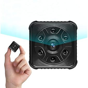 Spion-Kamera, Mini-Kamera, 1080P HD Wireless WiFi Überwachungskamera mit Nachtsicht und Bewegungserkennung (Schwarz)