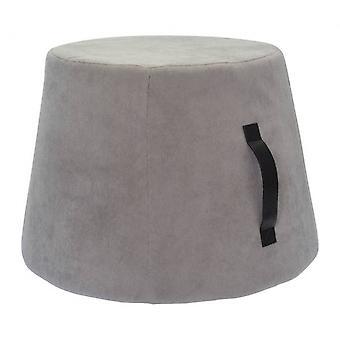stool 45 x 37 cm velvet/polyurethane grey