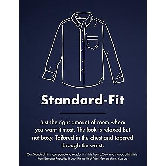 Goodthreads Men's Standard-Fit Long-Sleeve Brushed Flannel Shirt, navy black watch plaid, Large Tall